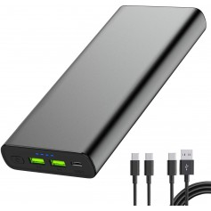 PowerOak S25 26800mAh PD 100W PD3.0 PPS USB-C MacBook powerbank