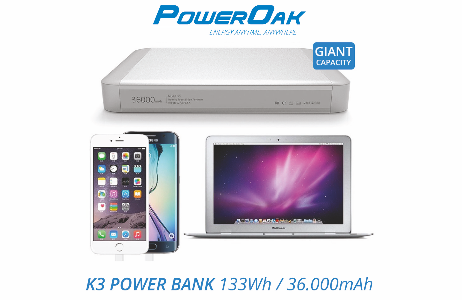 PowerOak K3 MacBook PowerBank